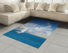 Pamuk Bulutlar ve Yelkenli Halı (Kilim) Gökyüzü Deniz