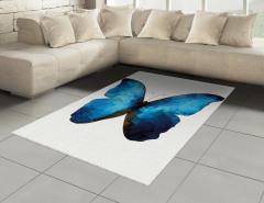 Mavi Siyah Kelebek Desenli Halı (Kilim) Geometrik