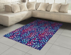 Sulu Boya Mozaik Desenli Halı (Kilim) Şık Tasarım