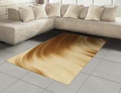 Kahverengi Dalgalı Halı (Kilim) Dekoratif Şık