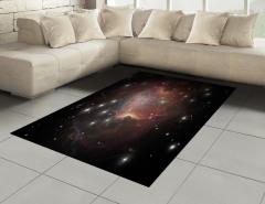 Uzayın Gizemi Halı (Kilim) Gökyüzü Yıldız