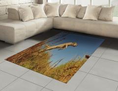 Avcı Köpeği Halı (Kilim) Doğa Mavi Gökyüzü