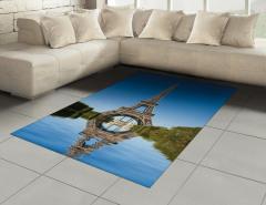 Eyfel Kulesi Temalı Halı (Kilim) Gökyüzü ve Nehir