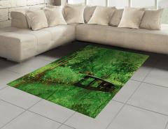 Yeşilin Huzuru Temalı Halı (Kilim) Ağaç Desenli Doğa