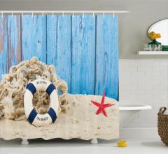 Huzur Veren Tatil Duş Perdesi Denizyıldızı Mavi
