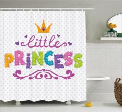 Kız Çocukları İçin Duş Perdesi Rengarenk Prenses