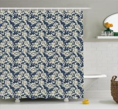 Bahar Temalı Duş Perdesi Çiçek Desenli Şık Tasarım
