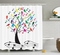 Müzik Severlere Duş Perdesi Kuşların Şarkısı Temalı