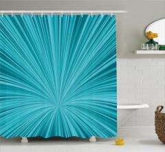 Mavi Girdap Desenli Duş Perdesi 3D Etkili Şık