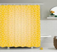 Sarı Çiçekli Duş Perdesi Duvar Kağıdı Temalı