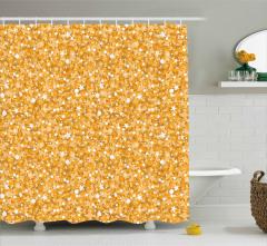 Altın Yıldız Temalı Duş Perdesi Sarı Parlak