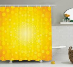 Daire Şekilli Duş Perdesi Sarı Şık Tasarım
