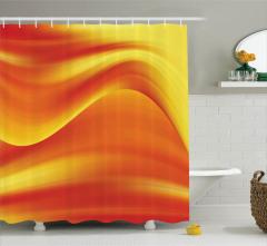 Turuncu Duş Perdesi Modern Sanat Şık Tasarım Trend