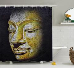 Budanın Yüzü Desenli Duş Perdesi Uzak Doğu