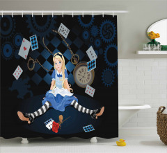 Masal Temalı Duş Perdesi Alice Çocuklar İçin