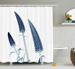 Sanatsal Çiçek Desenli Duş Perdesi 3D Etkili