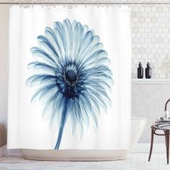 3D Etkili Papatya Desenli Duş Perdesi Çiçek