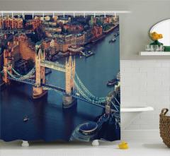 Nehir ve Antik Köprü Temalı Duş Perdesi Londra