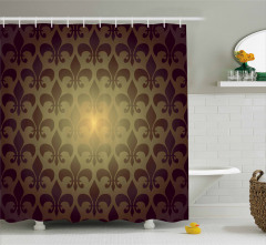 Zambak Sembolü Desenli Duş Perdesi Şık Tasarım