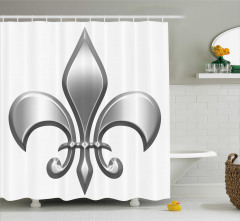 Metalik Zambak Desenli Duş Perdesi Şık Tasarım