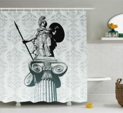 Sanat Eseri Temalı Duş Perdesi Heykel Antik