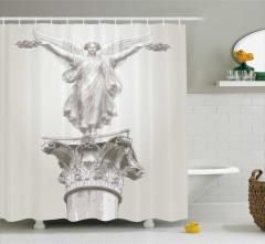 Antik Temalı Duş Perdesi Heykel Yunan Sanat
