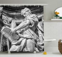 Sanat Eseri Temalı Duş Perdesi Antik Heykel