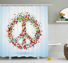 Rengarenk Kalp Desenli Duş Perdesi Barış Şık