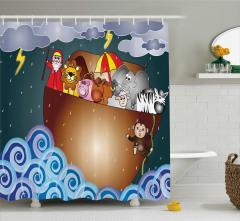 Nuh Peygamber ve Tufan Temalı Duş Perdesi Dini