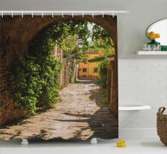 Antik Kemer ve Sokak Temalı Duş Perdesi Şık