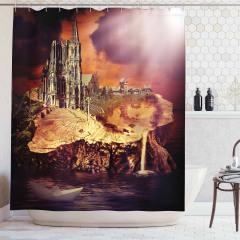 Gotik Tarz Duş Perdesi Modern Sanat Şık Tasarım