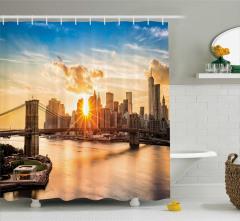 Gökdelen ve Köprü Temalı Duş Perdesi New York