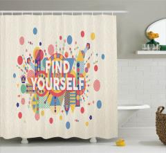 Rengarenk Duş Perdesi Başarı Yazı İlham Şık