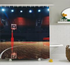 Basketbol Salonu Baskılı Duş Perdesi Spor Turuncu