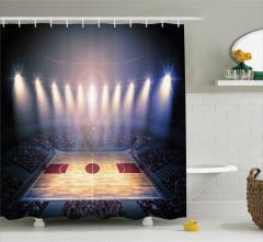 Basketbolseverler için Duş Perdesi Arena Işıklar