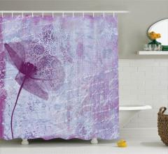 Leylak Duş Perdesi Gelincik Çiçeği ve Romantik Şiir