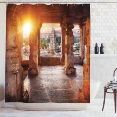Antik Şehir ve Tapınak Temalı Duş Perdesi Güneş