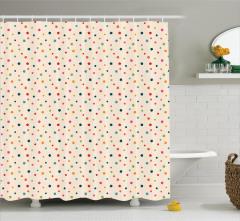 Rengarenk Yıldız Desenli Duş Perdesi Krem Trend Şık