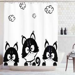 Çocuklar için Duş Perdesi Sevimli Kedi Yavruları