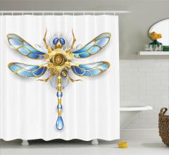 Yusufçuk Desenli Duş Perdesi Modern Sanat Trend