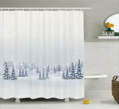 Beyaz Duş Perdesi Romantik Kar Yağışı Manzaralı