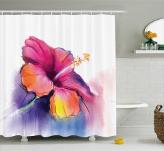 Çiçek Desenli Duş Perdesi Pastel Bahar Şık Tasarım