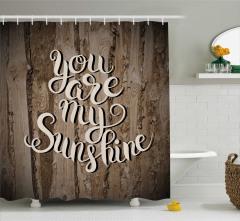 Aşk Temalı Duş Perdesi Sevgililer Günü İçin Şık
