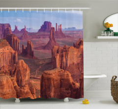 Kanyon Manzaralı Duş Perdesi Çöl Kahverengi Amerika