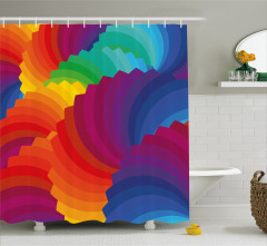 Renk Tekerleği Temalı Duş Perdesi Rengarenk Şık