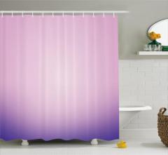 Pembe ve Mor Desenli Duş Perdesi Şık Tasarım Trend