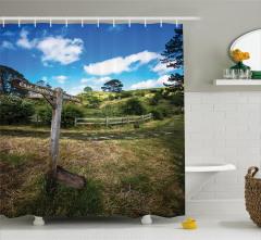 Fantastik Temalı Duş Perdesi Hobbit Yeşil Trend