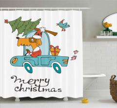 Mutlu Noeller Temalı Duş Perdesi Çocuk İçin Köpek
