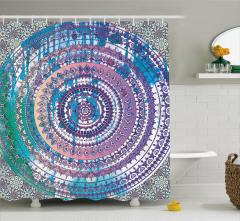 Rengarenk Çiçek Temalı Duş Perdesi Şık Tasarım Trend
