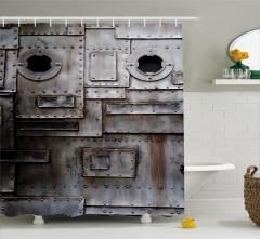 Yamalı Çelik Kapı Temalı Duş Perdesi Şık Tasarım